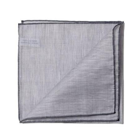The essentials » Metal pocket square with dark grey edge