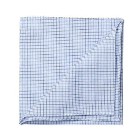 The essentials » Sky little check pocket handkerchief