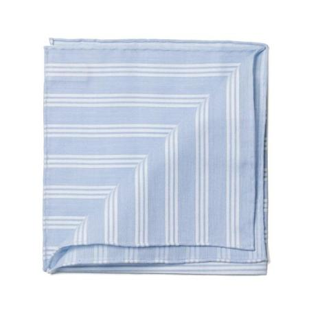 The essentials » Shirt sky pochette with white satin stripes