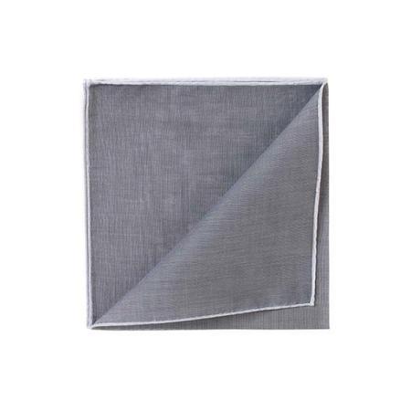 The essentials » HR grey handkerchief with white edge