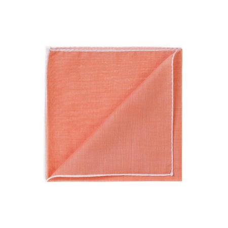 The essentials » HR orange handkerchief with white edge