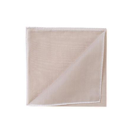 The essentials » HR beige handkerchief with white edge
