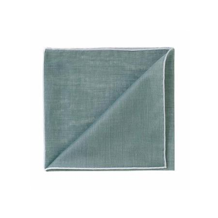 The essentials » HR military green handkerchief with white edge