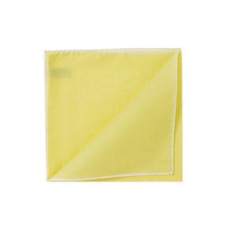 The essentials » HR yellow handkerchief with white edge