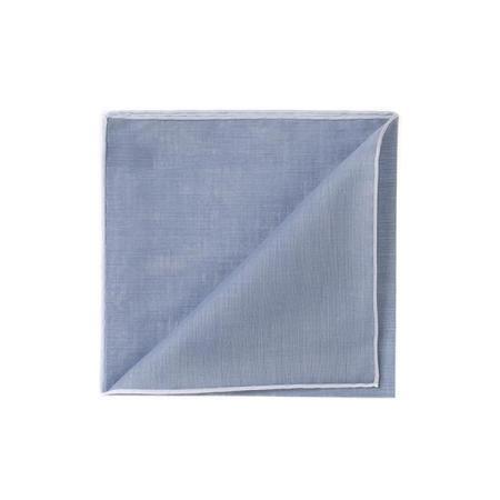 The essentials » HR grey blue handkerchief with white edge