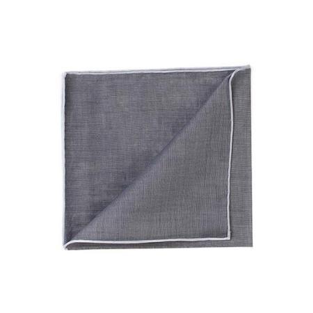 The essentials » HR dark grey handkerchief with white edge