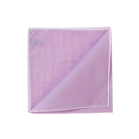 The essentials » HR lilac handkerchief with white edge