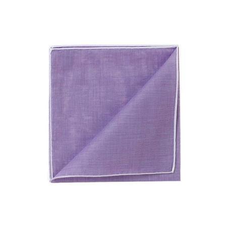 The essentials » HR Purple handkerchief with white edge