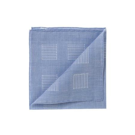 The essentials » Heracles blue pocket square with white yarn